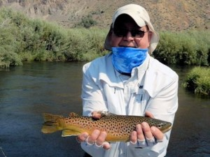 Steve Coburn, from WI, with a Montana brown trout that he caught and released.