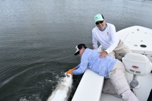 Capt. Rick with Dennis Ondercin's Charlotte Harbor tarpon